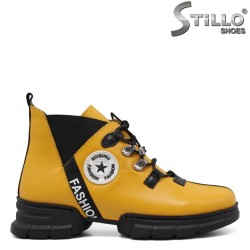 Ghete dama sport de culoare negru si galben - 33963
