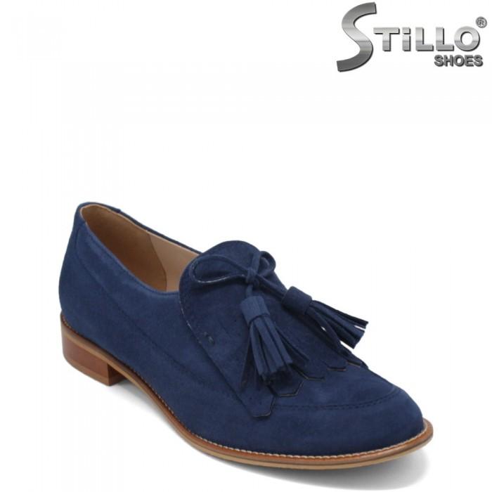 Pantofi dama de culoare albastru cu toc jos - 34193