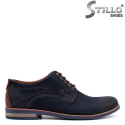 Pantofi barbati de culoare albastru din nubuc - 34209