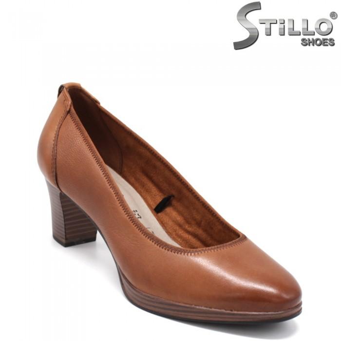 Pantofi  dama de culoare maron model Tamaris cu toc mijlociu. - 34238