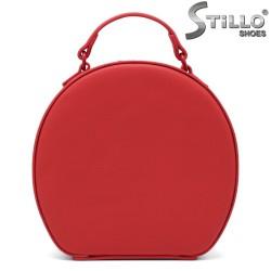 Geanta dama rotunda de culoare rosu - 34255