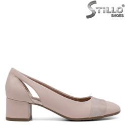 Pantofi dama de culoare roz si cu toc jos - 34275