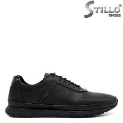 Pantofi  sport pentru barbati din piele naturala de culoare negru - 34301