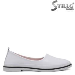 Pantofi dama de culoare alb cu toc jos - 34304