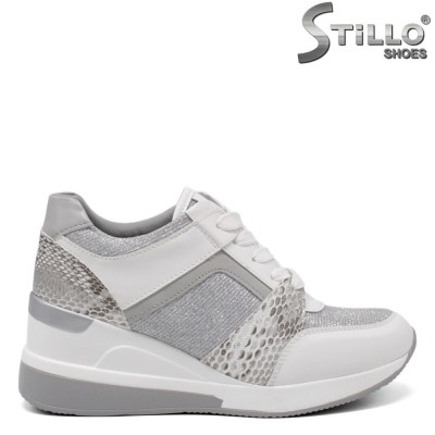 Pantofi dama sport eleganti cu imprimanta tip sarpe - 34382