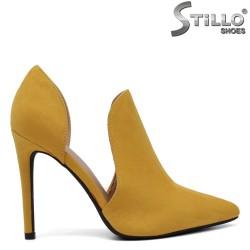 Ghete dama de vara de culoare mustard - 34393