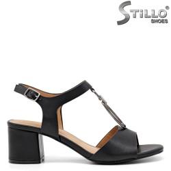 Sandale dama elegante de culoare negru cu toc  - 34402