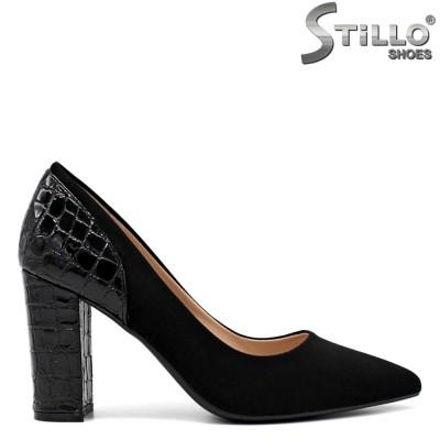 Pantofi dama cu toc de culoare negru - 34423