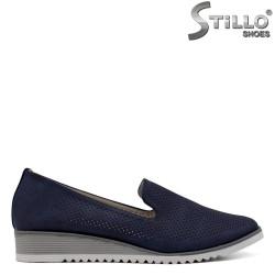 Pantofi dama de culoare albastru cu perforatie - 34428
