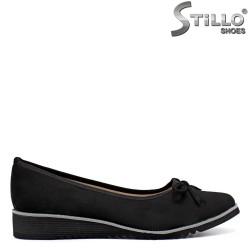 Pantofi dama din velur cu platforma joasa - 34429