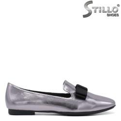 Pantofi dama de culoare bronz cu funda - 34455