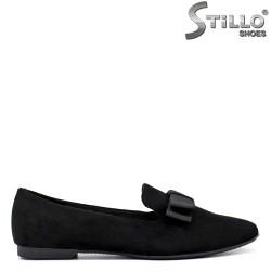 Pantofi dama de zi cu zi din velur de culoare negru - 34457