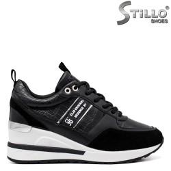 Pantofi dama sport eleganti cu platforma si cu sireturi - 34471