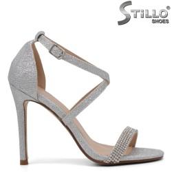 Sandale dama elegante cu pietricele si cu toc subtire - 34502