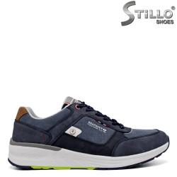 Pantofi barbati sport de culoare albastru denim - 34586