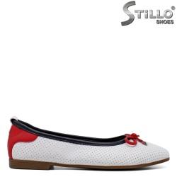Pantofi dama de primavara de culoare alb - 34598