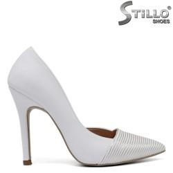 Pantofi dama de culoare alb si cu toc - 34602