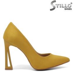 Pantofi dama eleganti de culoare mustard - 34608