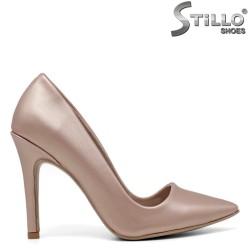 Pantofi dama cu toc inalt de culoare roz - 34610