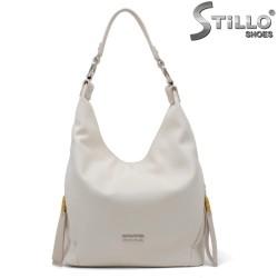 Geanta dama de culoare alb cu un maner - 34639