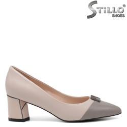 Pantofi dama de culoare bej si gri - 34647