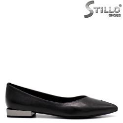 Pantofi dama  cu toc jos metalic - 34652