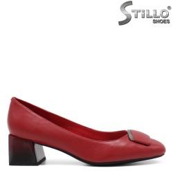 Pantofi dama de culoare rosu si cu toc jos- 34655