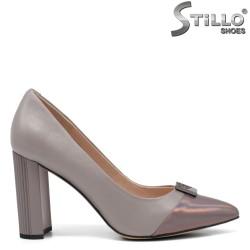 Pantofi dama eleganti de culoare gri si bronz - 34657