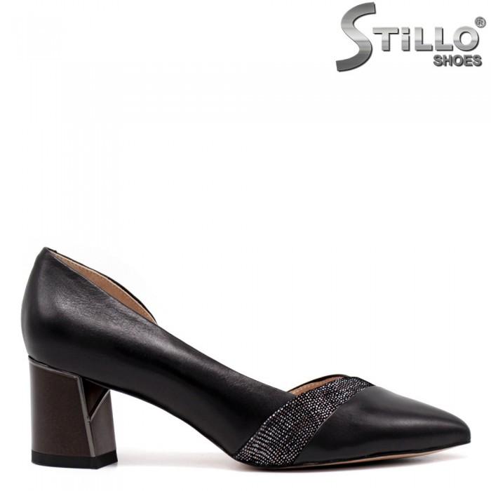Pantofi dama asimetrici cu imprimanta tip sarpe - 34662