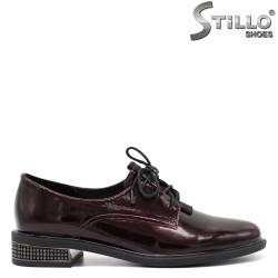 Pantofi dama din lac si cu sireturi - 34666