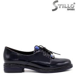Pantofi dama de culoare albastru inchis si cu sireturi - 34669
