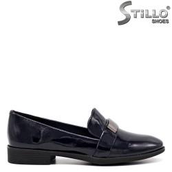 Pantofi dama de culoare albastru si cu toc jos - 34670