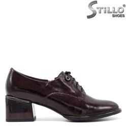 Pantofi dama cu sireturi de culoare bordeux - 34672