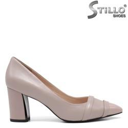 Pantofi dama eleganti de culoare bej cu toc inalt - 34674