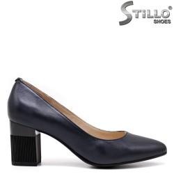 Pantofi dama de culoare albastru inchis si cu toc - 34679