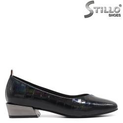 Pantofi dama de zi cu zi cu toc jos metalic - 34680