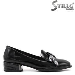 Pantofi dama din piele naturala cu funda - 34682