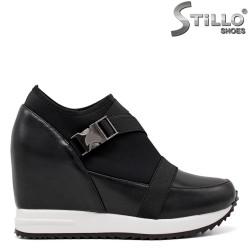 Pantofi dama cu platforma din piele si strech - 34684
