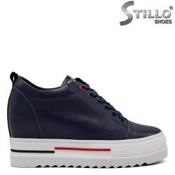 Pantofi dama sport de culoare albastru si cu sireturi - 34701
