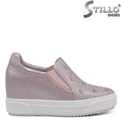 Pantofi dama sport de culoare roz perlat - 34704