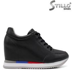 Pantofi dama sport de culoare negru si cu sireturi - 34705