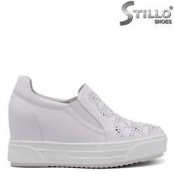 Pantofi dama sport din piele naturala si cu platforma - 34706