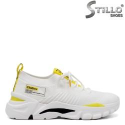 Pantofi dama sport de culoare alb si galben - 34712