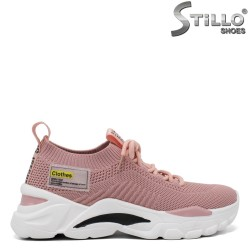 Snickers dama de culoare roz din strech - 34715