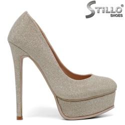 Pantofi dama cu platforma si cu toc subtire - 34718