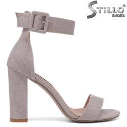 Sandale dama de culoare roz brocat cu partea din spate acoperita - 34721