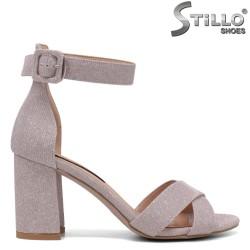Sandale dama elegante de culoare roz si cu toc gros - 34722
