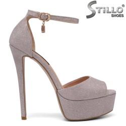 Sandale dama de culoare roz cu toc inalt - 34727