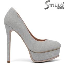 Pantofi dama de ocazie cu toc subtire si cu platforma - 34732