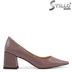 Pantofi dama eleganti de culoare scrum de trandafiri - 34739